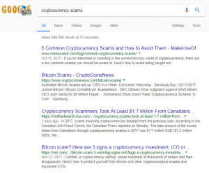 Cryptocurrency Scams Google Search
