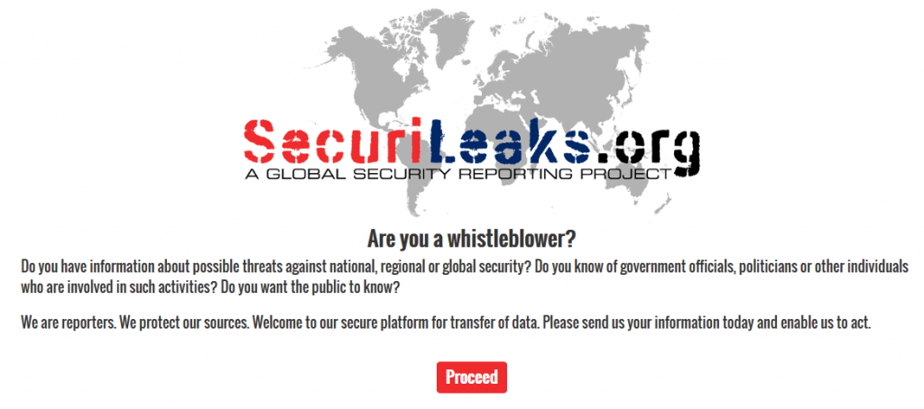 SecuriLeaks - Tor for Whistleblowers